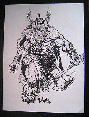 Tim Vigil Original Art Dark Kingdom Inked  Faust