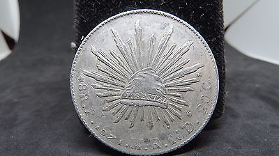 Mexico 8 Reales San Luis, Pi 1891 MR, XF Condition Silver Crown Size KM#377.12