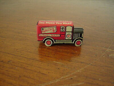 1920's CRACKER JACK CANDY TIN TOY DELIVERY TRUCK PREMIUM ANGELUS MARSHMALLOWS AD