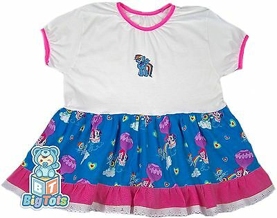 """BIG TOTS adult MLP baby girl dress 40 to 44+"""" chest"""