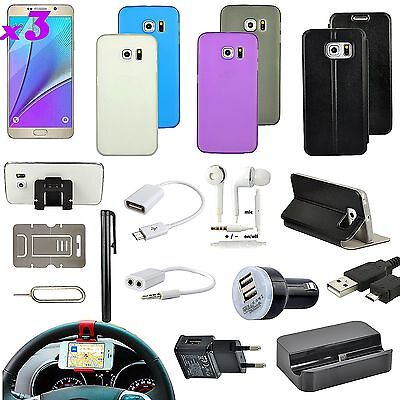 19 in 1 Accessory Case Cover Charger Car Mount Holder for Samsung Galaxy Note 5