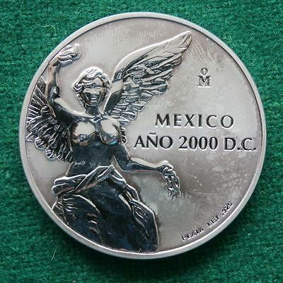 2000 MEXICAN SILVER COIN 1 Oz Proof  Winged Victory  DETAILS UNC
