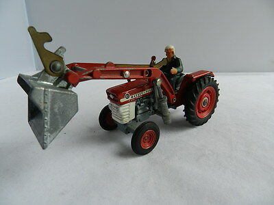 Corgi Toys No69 Massey Ferguson 165 with shovel and driver