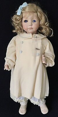 "24"" Girl Bisque & Cloth Artist Doll – Signed Josephine 12/50, 1996"