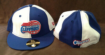 timeless design 9b5c5 f7349 New Era 59FIFTY NBA Fitted Hat LOS ANGELES CLIPPERS Throwback Blue White 7 1