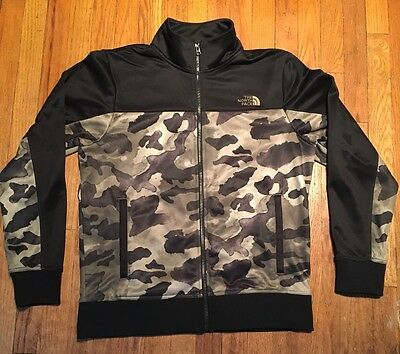 Men's North Face Track Jacket. Black & Camo. Size M. Flawless.