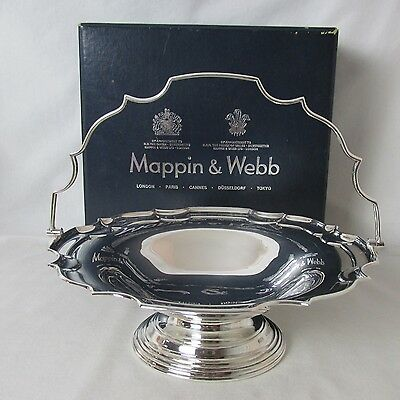English Silver Plated Centerpiece Fruit Basket & Org Box Mappin & Webb
