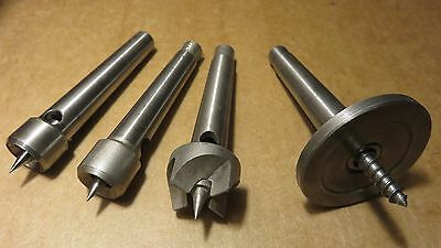 craftsman mt1 spur screw and cup wood lathe centers lot qty4