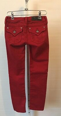 Girls Miss Me Jeans Pants Red Size 10 JK50145164 Skinny Way Cute