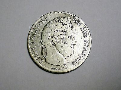 1832 B France 5 Francs Silver Coin