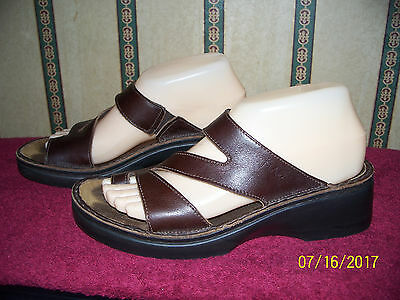 Naot Brown Leather  Sandals Size 38 U.s 7 - 7.5