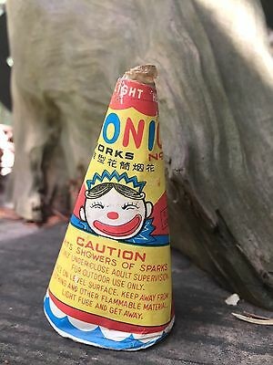 Vintage Firecracker Label Conic  Circus Clown Horse Brand Made China Firework