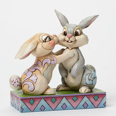 Jim Shore Disney Traditions Twitterpation Bambi Thumper and Miss Bunny Figurine
