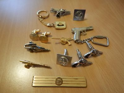 Group Pistol Shooting related pins badges tie bars and cuff links