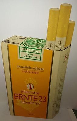 Vintage UNUSUAL ADVERTISING PLASTIC ERNTE23 REEMTSMA SWITZERLAND CIGARETTE SIGN