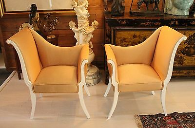 Vintage French Style Parlor Chairs Set of 2