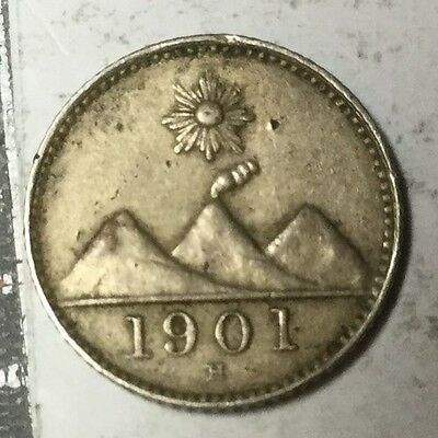GUATEMALA KM175 1/4 Real coin excellent condition