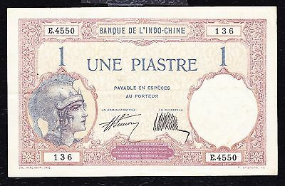 French Indochina -1 Piastre - Circulated