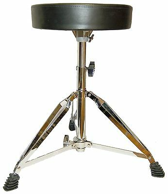 New Viper Round Drum Throne - Nice Quality Adjustable Drummers Stool