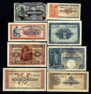 Greece. Banknote Assortment, Kingdom, National Bank & State Notes,