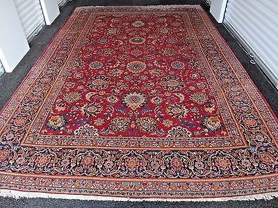Exceptional size vintage Persian Kashan traditional large rug 1940's 8x13 ft