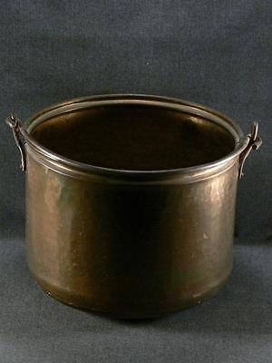 Vintage Hammered Copper Pot Wrought Iron Handle