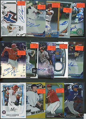 Huge 2,000 Card Patch Auto Serial #'D Refractor Baseball Rookie Collection Lot