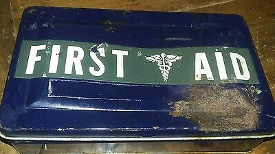 Vintage Tin First Aid Kit
