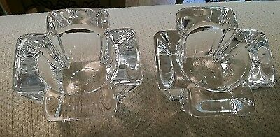 2 Orrefors Crystal Votive Tea Light Candle Holders Max Design by Anna Ehmer