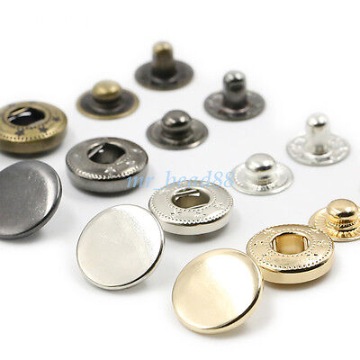 Metal Snap Fasteners Popper Press Stud Buttons DIY for Leather Clothes Jacket