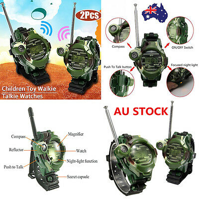 2PCS 7 In 1 Walkie Talkie Watch Child Wrist Watch Radio Outdoor Interphone Toy