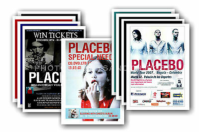 PLACEBO  - 10 promotional posters - collectable postcard set # 2
