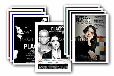 PLACEBO  - 10 promotional posters - collectable postcard set # 3