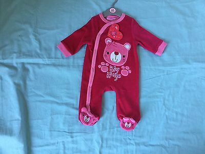 Baby Girls Pink Sleepsuit - Age 3-6 Months - Brand New