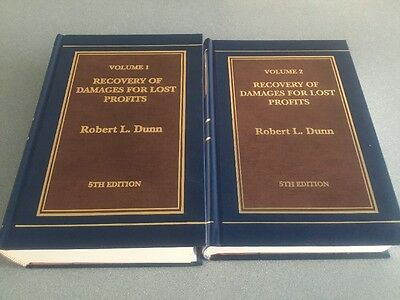 Recovery of Damages for Lost Profits (2 Vol. Set) by Dunn  Robert 5TH ED BOOKS