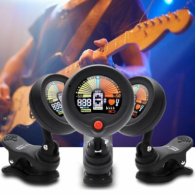 Clip-on Chromatic Digital Guitar Tuner for Acoustic/Electric Bass Violin Ukulele