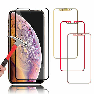 3D Curved Full Tempered Glass Cover Film Protector For iPhone XS Max XR X 8 7 6S