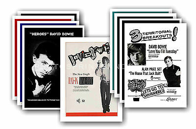 DAVID BOWIE  - 10 promotional posters - collectable postcard set # 4