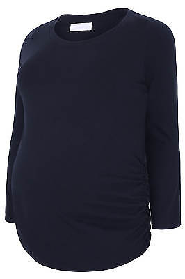 YoursClothing Plus Size Womens Bump It Up Maternity Cotton Long Sleeved Top