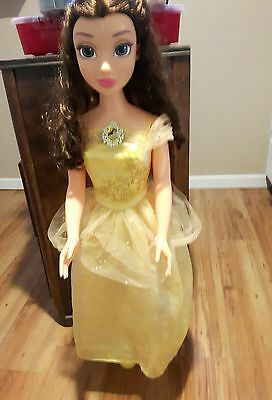 BELLE Beauty And The Beast fairy tale friend Doll OVER 3ft tall Disney Toy EUC