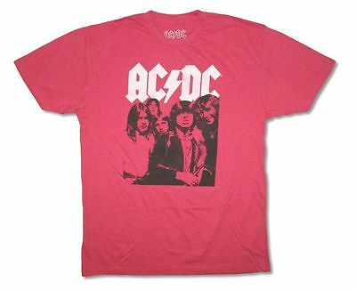 AC/DC Highway Band Portrait Photo Album Cover Heather Red T Shirt New Official