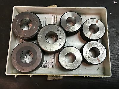 7 Various Sheffield Master Setting Rings For Air Spindle