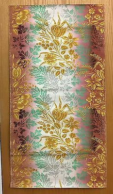 Late 18th C./ Early 19th C. French Block Printed Exotic Floral Wallpaper (2069)
