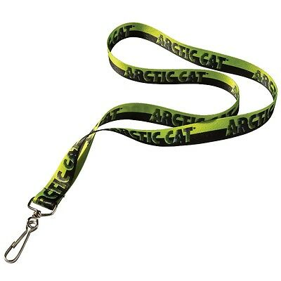 Arctic Cat Polyester Lanyard Keychain - Black & Lime Green - 5273-039