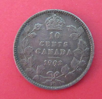 1903 H Canada Ten Cent Coin~Silver~