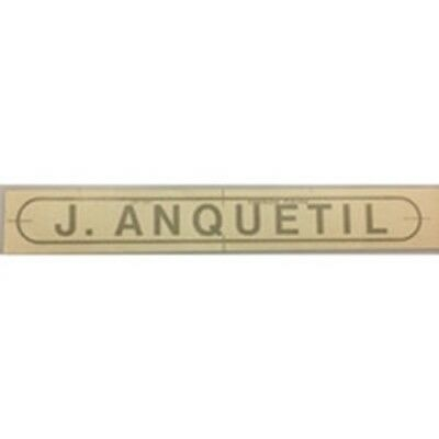 """ANQUETIL /""""J Anquetil/"""" D//T block on elongated oval"""