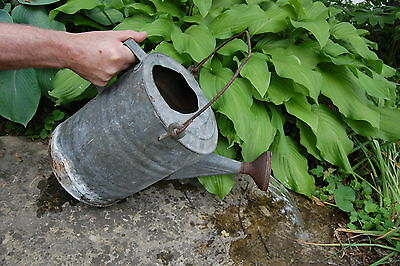 "Garden Metal Watering Can Vintage 17"" Primitive Country"