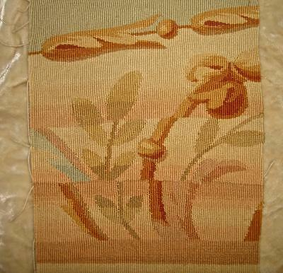BEAUTIFUL FRAGMENT 19th CENTURY FRENCH FINE WOOL AUBUSSON TAPESTRY, REF