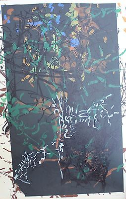 Jean Paul Riopelle Original Lithograph Hand Signed HC Proof Avant La Lettre 1968