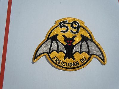 USAF AIR FORCE MILITARY PATCH old old old AIR DEFENSE 59th FIS INTERCEPTOR LARGE